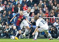 MADRI, ESPANHA, 02 MARÇO 2013 - CAMPEONATO ESPANHOL - REAL MADRID X BARCELONA - Andres Inista jogador do Barcelona em partida contra o Real Madrid  em partida pela 26 rodada do Campeonato Espanhol, neste sabado, 02. (FOTO: ALEX CID-FUENTES / ALFAQUI / BRAZIL PHOTO PRESS).