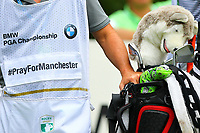 Pray for Manchester caddies top during the BMW PGA Golf Championship at Wentworth Golf Course, Wentworth Drive, Virginia Water, England on 27 May 2017. Photo by Steve McCarthy/PRiME Media Images.