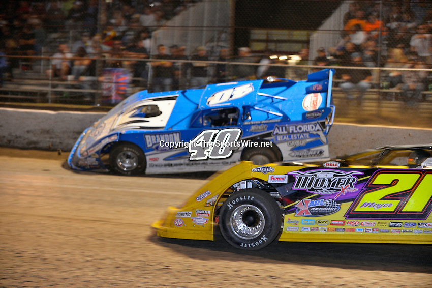 Feb 20, 2014; 9:29:43 PM;  Barberville, FL, USA;  World of Outlaws Late Model Series for 43rd Annual DIRTcar Nationals presented by Summit Racing Equipment at Volusia Speedway Park.  Mandatory Credit: (thesportswire.net)