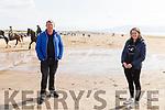 John and Niamh O'Donovan from Killarney having a stroll on Inch Beach on Sunday.