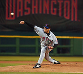 Washington, D.C. - April 29, 2005 -- New York Mets pitcher Jae Seo (26) delivers a pitch in early action against the Washington Nationals at RFK Stadium in Washington, D.C. on April 29, 2005.  The game marks the Mets first-ever regular - season appearance in Washington. .Credit: Ron Sachs / CNP.(RESTRICTION: NO New York or New Jersey Newspapers or newspapers within a 75 mile radius of New York City)