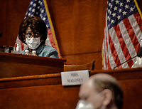 United States House Committee on Financial Services Chairperson,  US Representative Maxine Waters (Democrat of California) conducts todays hearing on Oversight of the Treasury Department and Fed Reserve Pandemic response in Washington, DC on June 30, 2020.<br /> Credit: Bill O'Leary / Pool via CNP /MediaPunch