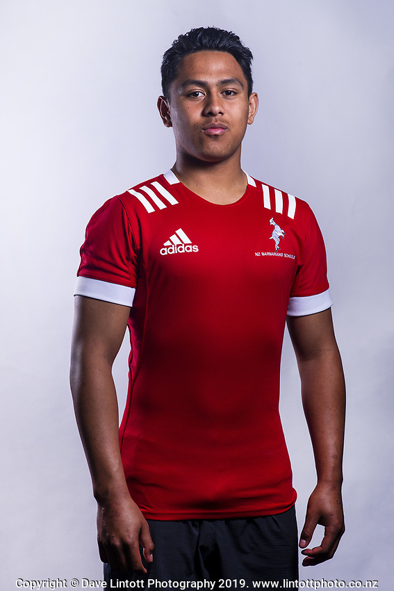 Jermaine Pepe (Rangiora HS). 2019 New Zealand Schools Barbarians rugby union headshots at the Sport & Rugby Institute in Palmerston North, New Zealand on Wednesday, 25 September 2019. Photo: Dave Lintott / lintottphoto.co.nz