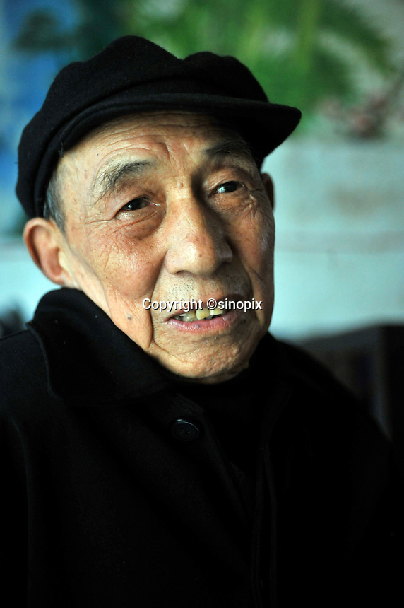 An old minerr, Mr Zhao., 84, of the  Yun Chang Ping mercury mine the mountains about 30 kilometers from Tongren city, Guizhou, China.
