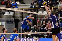 GRONINGEN - Volleybal, Lycurgus - Vocasa, Eredivisie, seizoen 2019-2020, 08-02-2020,  smash van Lycurgus speler Collin Mahan