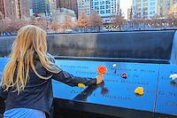 America,New York, T, Manhattan, tribute at  ground zero Memorial