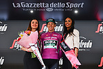 German Champion Pascal Ackermann (GER) Bora-Hansgrohe retains the Maglia Ciclamino at the end of Stage 19 of the 2019 Giro d'Italia, running 151km from Treviso to San Martino di Castrozza, Italy. 31st May 2019<br /> Picture: Massimo Paolone/LaPresse | Cyclefile<br /> <br /> All photos usage must carry mandatory copyright credit (© Cyclefile | Massimo Paolone/LaPresse)