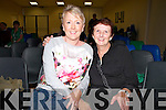 Pictured in the Con Colbert Memorial Hall,Athea,  on saturday for the Athea Parish Festival performing two one act plays, 'The Mountain is gone' by PJ Coen and 'Backwater' by John B Keane were L-R : Denise O'Riordan and Mary Barrett, Athea.