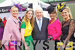 Tralee Ladies, Olivia Wall, Sarah Tobin Minister Jimmy Deenihan, Karyn Moriarty and Lorraine Scannell-Byrne Pictured at Listowel Races on Friday.