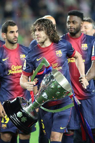 19.05.2013 Barcelona, Spain. Carlos Puyol during the during the celebration of the league championship 2012/13 at the Nou Camp