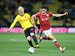 Watford's Will Hughes tussles with Bristol City's Callum O'Dowda during the Carabao cup match at Vicarage Road Stadium, Watford. Picture date 22nd August 2017. Picture credit should read: David Klein/Sportimage
