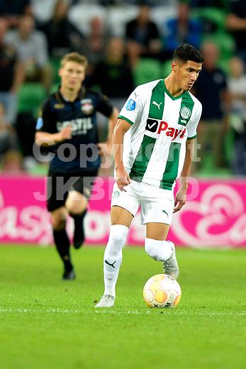 GRONINGEN - Voetbal, FC Groningen - Willem II,  Eredivisie , Hitachi stadion, seizoen 2018-2019, 17-08-2018,   FC Groningen speler Uriel Antuna