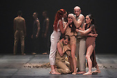 10/11/2015. London, UK. Sacre performed to Stravinsky's The Rite of Spring. Dress rehearsal of Berlin-based dance troupe Sasha Waltz & Guests performing the UK premiere of Sacre, a triple bill, at Sadler's Wells Theatre from 11 to 13 November 2015. Photo credit: Bettina Strenske