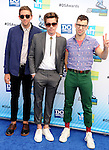 SANTA MONICA, CA - AUGUST 19: Andrew Dost, Nate Ruess and Jack Antonoff of the band Fun arrive at the 2012 Do Something Awards at Barker Hangar on August 19, 2012 in Santa Monica, California. /NortePhoto.com....**CREDITO*OBLIGATORIO** ..*No*Venta*A*Terceros*..*No*Sale*So*third*..*** No Se Permite Hacer Archivo**