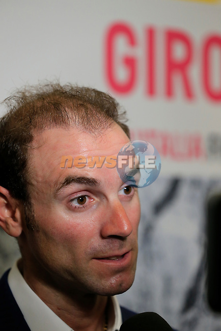 UCI leading points rider Alejandro Valverde (ESP) talks to the media at the Giro d'Italia 2016 Presentation held at Expo Milano, Milan, Italy. 5th October 2015.<br /> Picture: Eoin Clarke | Newsfile