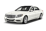 2016 Mercedes Benz S Class May Bach 4 Door Sedan Angular Front stock photos of front three quarter view
