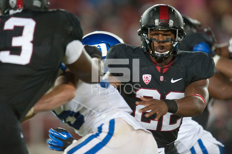 STANFORD, CA-SEPTEMBER 8, 2012 -  Stanford win over visiting Duke 50-13-12 in their second home game of the 2012-2013 season.