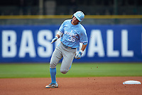 Ashton McGee (36) of the North Carolina Tar Heels rounds second base against the Boston College Eagles in Game Five of the 2017 ACC Baseball Championship at Louisville Slugger Field on May 25, 2017 in Louisville, Kentucky. The Tar Heels defeated the Eagles 10-0 in a game called after 7 innings by the Mercy Rule. (Brian Westerholt/Four Seam Images)