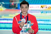 CAO Yuan CHN silver medal<br /> Men's 3m Springboard <br /> Gwangju South Korea 18/07/2019<br /> Diving <br /> 18th FINA World Aquatics Championships<br /> Nambu University Aquatics Center <br /> Photo © Andrea Staccioli / Deepbluemedia / Insidefoto