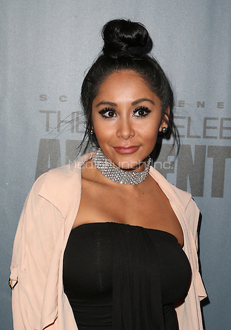 "Universal City, CA - DECEMBER 09: Nicole Polizzi, Snooki, At Q&A For NBC's "" The New Celebrity Apprentice"" At NBC Universal Lot, California on December 09, 2016. Credit: Faye Sadou/MediaPunch"