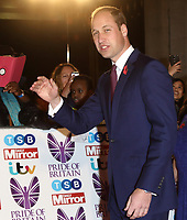 HRH Prince William, Duke of Cambridge at the Pride Of Britain Awards held at Grosvenor House, Park Lane, London, UK on the 30th October 2017<br /> CAP/ROS<br /> &copy;ROS/Capital Pictures /MediaPunch ***NORTH AND SOUTH AMERICAS ONLY***
