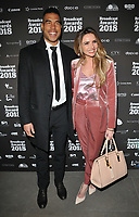 Jason Bell and Nadine Coyle at the Broadcast Awards 2018, Grosvenor House Hotel, Park Lane, London, England, UK, on Wednesday 07 February 2018.<br /> <br /> CAP/CAN<br /> &copy;CAN/Capital Pictures