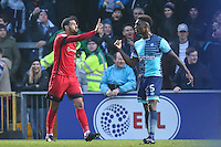 Paul McCallum of Leyton Orient (10) shows his frustration after his goal is ruled out for off-side during the Sky Bet League 2 match between Wycombe Wanderers and Leyton Orient at Adams Park, High Wycombe, England on 17 December 2016. Photo by David Horn / PRiME Media Images.