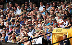 Port Vale 3 Doncaster Rovers 0, 22/08/2015. League One, Vale Park. Vale fans shielding their eyes from the sun. Photo by Paul Thompson.