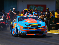 Mar 16, 2018; Gainesville, FL, USA; NHRA pro stock driver Alex Laughlin during qualifying for the Gatornationals at Gainesville Raceway. Mandatory Credit: Mark J. Rebilas-USA TODAY Sports