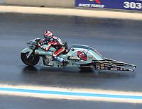 Jul 23, 2017; Morrison, CO, USA; NHRA pro stock motorcycle rider Angelle Sampey during the Mile High Nationals at Bandimere Speedway. Mandatory Credit: Mark J. Rebilas-USA TODAY Sports