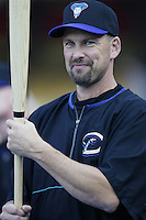 Mark Grace of the Arizona Diamondbacks before a 2002 MLB season game against the Los Angeles Dodgers at Dodger Stadium, in Los Angeles, California. (Larry Goren/Four Seam Images)