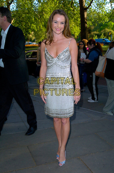 AMANDA HOLDEN.Arrivals at the Sony Radio Academy Awards, Grosvenor House Hotel, London, England..April 30th 2007.full length silver white beaded dress jewel encrusted shoes.CAP/CAN.©Can Nguyen/Capital Pictures