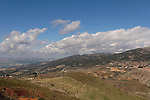 The Golan Heights. Looking northwest from Nimrod