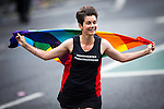 © Joel Goodman - 07973 332324 . 27/08/2016 . Manchester , UK . Manchester Frontrunner running . Annual Pride Parade through Manchester City Centre as part of Manchester Gay Pride's Big Weekend . Photo credit : Joel Goodman