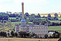 Chipping Norton: The Bliss Mill, 1870's in Oxfordshire. The Gothic Revival mill is now condos.