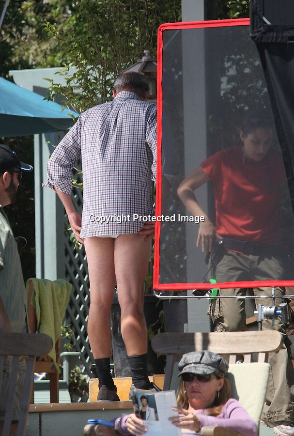 "TUESDAY August 31, 2010....Richard Jenkins took off his pants wearing just his underwear while filming a scene with Justin Timberlake, Jenna Elfman & Mila Kunis. fFilming the movie ""Friends with Benefits"" in Malibu beach. ..AbilityFilms@yahoo.com.805-427-3519.www.AbilityFilms.com."