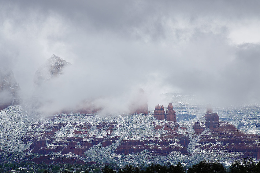 Storm Light: Winter #2, Sedona, Arizona