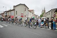 An exclusive/elite group of riders are the race leaders by over 8 minutes on the peloton with 10km to go: Luke Durbridge (AUS/Orica-BikeExchange), Peter Sagan (SVK/Tinkoff), Michael 'Bling' Matthews (AUS/Orica-BikeExchange), Edvald Boasson Hagen (Nor/DimensionData), Daryl Impey (ZAF/Orica-BikeExchange), Samuel Dumoulin (FRA/Ag2r-La Mondiale) & Greg Van Avermaet (BEL/BMC)<br /> <br /> <br /> stage 10: Escaldes-Engordany (AND) - Revel (FR)<br /> 103rd Tour de France 2016