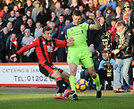 Bournemouth's Ryan Fraser tackles Liverpool's James Milner during the Premier League match at the Vitality Stadium, London. Picture date December 4th, 2016 Pic David Klein/Sportimage