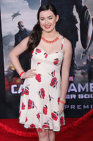 "HOLLYWOOD, LOS ANGELES, CA, USA - MARCH 13: Sarah Gilman at the World Premiere Of Marvel's ""Captain America: The Winter Soldier"" held at the El Capitan Theatre on March 13, 2014 in Hollywood, Los Angeles, California, United States. (Photo by Xavier Collin/Celebrity Monitor)"
