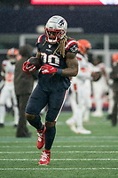 FOXBOROUGH, MA - OCTOBER 27: New England Patriots Runningback Brandon Bolden #38 during a game between Cleveland Browns and New Enlgand Patriots at Gillettes on October 27, 2019 in Foxborough, Massachusetts.
