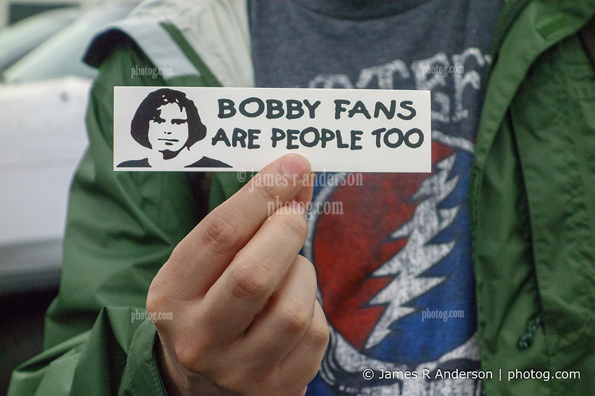 A new bumper sticker, poor Bobby, at the Outlaw Music Festival 16 June 2019