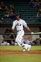 New Orleans Baby Cakes Lewis Brinson (6) at bat during a Pacific Coast League game against the Oklahoma City Dodgers on May 6, 2019 at Shrine on Airline in New Orleans, Louisiana.  New Orleans defeated Oklahoma City 4-0.  (Mike Janes/Four Seam Images)
