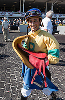 OLDSMAR, FL - JANUARY 21: Edgard J. Zayas, after winning the Pasco Stakes on Skyway Festival Day at Tampa Bay Downs on January 21, 2017 in Oldsmar, Florida. (Photo by Douglas DeFelice/Eclipse Sportswire/Getty Images)