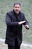 Atletico de Madrid's coach Diego Pablo Cholo Simeone during La Liga match.February 7,2015. (ALTERPHOTOS/Acero) /NORTEphoto.com