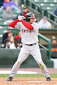 April 30th 2008:  Jeff Bailey (7) of the Pawtucket Red Sox, Class-AAA affiliate of the Boston Red Sox, at bat during a game at Frontier Field  in Rochester, NY.  Photo by Mike Janes/Four Seam Images