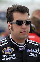 May 4, 2007; Richmond, VA, USA; Nascar Busch Series driver Sam Hornish Jr (12) during qualifying for the Circuit City 250 at Richmond International Raceway. Mandatory Credit: Mark J. Rebilas