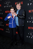 09 April 2018 - Hollywood, California - Maxwell Jenkins, Mark Hamill. NETFLIX's &quot;Lost in Space&quot; Season 1 Premiere Event held at Arclight Hollywood Cinerama Dome. <br /> CAP/ADM/BT<br /> &copy;BT/ADM/Capital Pictures
