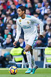 Raphael Varane of Real Madrid in action during the La Liga 2017-18 match between Real Madrid and FC Barcelona at Santiago Bernabeu Stadium on December 23 2017 in Madrid, Spain. Photo by Diego Gonzalez / Power Sport Images