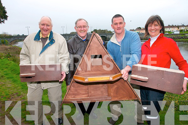 Killorglin Tidy Towns have offically launched a biodiversity plan for the Mid Kerry town to help focus on wildlife and natural amenities in Killorglin. <br /> L-R Ron Kimber, John Healy, James Daly and Rosie Magee (wildlife officer Killorglin Tidy Towns).